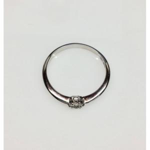 SOLITARIO ORO BIANCO STEFY, diamante 0.05 ct, colore G, SI