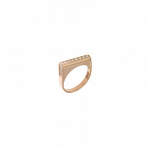 FUNNY LOOP RING WITH DIAMONDS