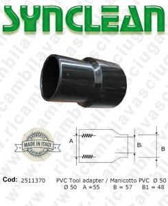 Manicotto X tubo aspirazione PVC Ø 50 per aspirapolvere Ghibli AS600, Maxiclean mx600