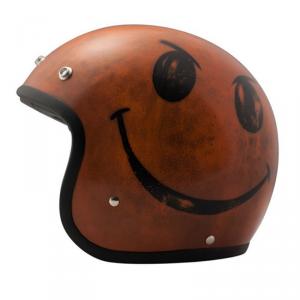 DMD VINTAGE SMILE HANDMADE Jet Helmet - Dark Orange