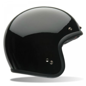 BELL CUSTOM 500 SOLID BLACK Jet Helmet - Gloss Black