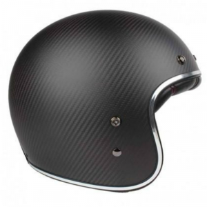 BELL CUSTOM 500 CARBON MATT BLACK Jet Helmet - Matt Black