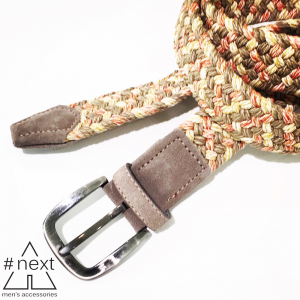 #NEXT - Cintura intrecciata tortora rosso