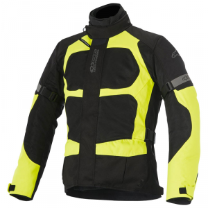 GIACCA MOTO ALPINESTARS SANTA FE AIR DRYSTAR JACKET BLACK YELLOW FLUO