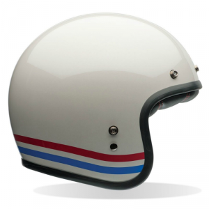 BELL CUSTOM 500 STRIPES Jet Helmet - Pearl White