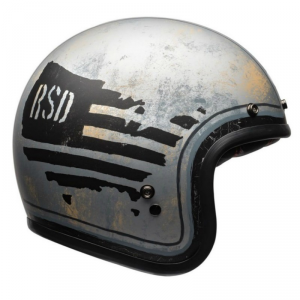 BELL CUSTOM 500 RSD 74 Jet Helmet - Black and Silver