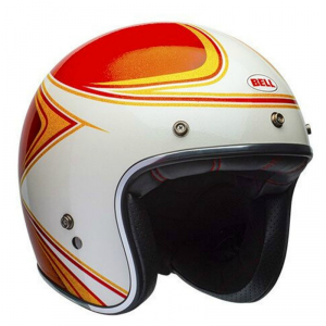 BELL CUSTOM 500 COPPERHEAD Jet Helmet - Orange and White