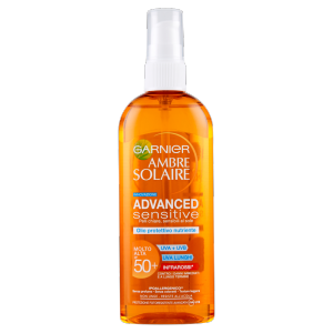 Garnier Ambre Solaire Advanced Sensitive - Olio protettivo nutriente IP 50+ - 150 ml