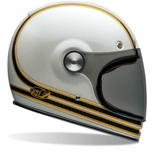 BELL BULLITT CARBON RSD MOJO Full Face Helmet - White and Gold