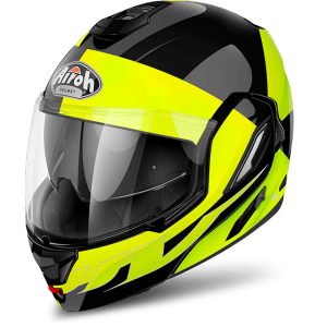 CASCO MOTO AIROH MODULARE REV FUSION YELLOW GLOSS