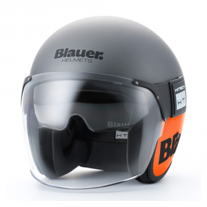 BLAUER POD Jet Helmet - Titanium Grey and Orange