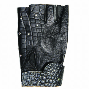BARUFFALDI GUIA DEMI SWAROVSKI Motorcycle Gloves - Black