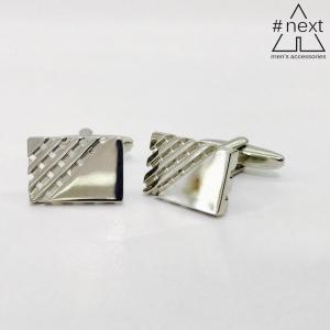 Kensington - Gemelli rettangolari acciaio inox