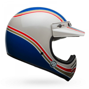 BELL MOTO 3 RSD MALIBU Full Face Helmet - White and Blue