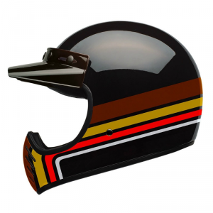 BELL MOTO 3 STRIPES BLACK Full Face Helmet - Multicolor