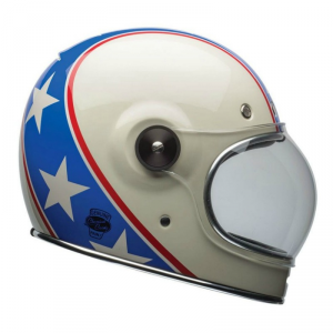 BELL BULLITT CHEMICAL CANDY Full Face Helmet - Blue and White
