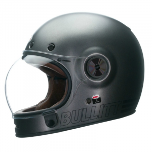 BELL BULLITT RETRO METALLIC TITANIUM Full Face Helmet - Matt Titanium Grey