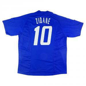 2002-04 Francia Maglia Home #10 Zidane XL (Top)