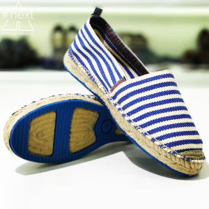 Trussardi Jeans - Espadrillas righe bianco azzurro