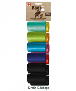 Rotolo Sacchetti Igienici colorati 12 rotoli x 20 bags