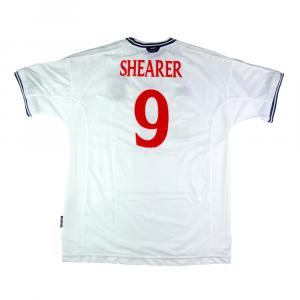 1999-01 Inghilterra Maglia Home #9 Shearer XL (Top)