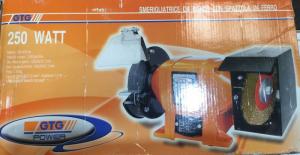 Smerigliatrice da banco con spazzola in ferro 250 W