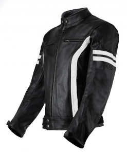 VAND HECTOR Motorcycle Leather Jacket - Black