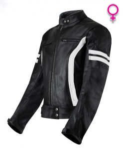 VAND HECTOR LADY Woman Motorcycle Leather Jacket - Black
