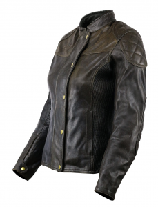 VAND ANDROMEDA LADY Woman Motorcycle Leather Jacket - Brown