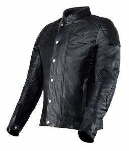VAND ANDROMEDA Motorcycle Leather Jacket - Black
