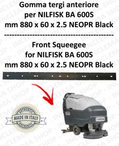 BA 600S - GOMMA TERGI anteriore per lavapavimenti NILFISK