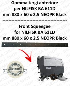 BA 611D - GOMMA TERGI anteriore per lavapavimenti  NILFISK