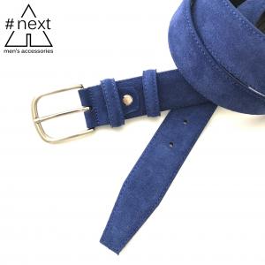#NEXT - Cintura suède blu elettrico