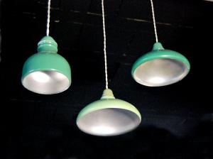 Lampadari vintage in alluminio
