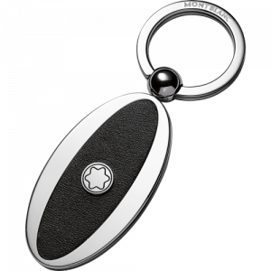 Meisterstück keyring metal / leather oval