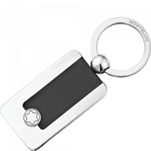 Keychain-Meisterstück-rectangular-metal / leather