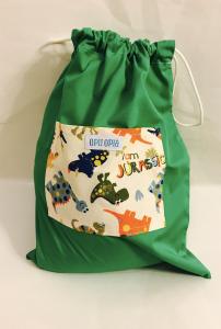 Dinosauri - sacca verde multiuso
