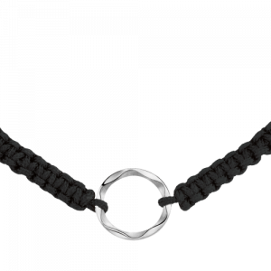 Bracelet in cord and silver Âme de Star