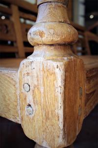 Panca vintage in teak per interni ed esterni