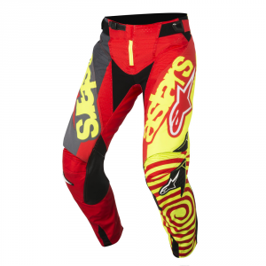 PANTALONI MOTO CROSS ALPINESTARS 2018 TECHSTAR VENOM RED YELLOW FLUO ANTHRACITE