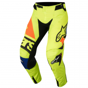 PANTALONI MOTO CROSS ALPINESTARS 2018 TECHSTAR FACTORY YELLOW FLUO BLUE BLACK ORANGE FLUO