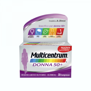 MULTICENTRUM DONNA 50+ INTEGRATORE MULTIVITAMINICO-MULTIMINERALE PER DONNE OLTRE I 50 ANNI