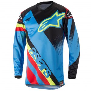MAGLIA MOTO CROSS ALPINESTARS 2018 RACER SUPERMATIC JERSEY AQUA BLACK RED