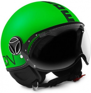 MOMO DESIGN FIGHTER VERDE FLUO Casco Jet - Verde