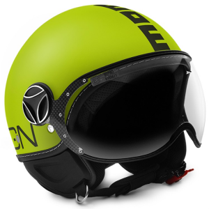 MOMO DESIGN FIGHTER FLUO Casco Jet - Giallo Opaco