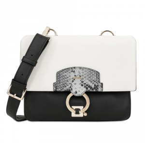 Shoulder bag Furla SCOOP 904191 ONYX+PETALO+ARGILLA c