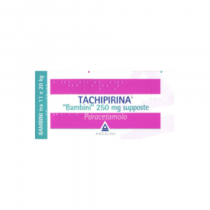 TACHIPIRINA 250 MG SUPPOSTE BAMBINI TRA 11 E 20 KG