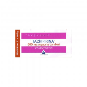 TACHIPIRINA 500 MG SUPPOSTE BAMBINI TRA 21 E 40 KG