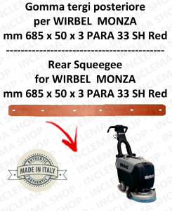 MONZA 385 B GOMMA TERGI posteriore per lavapavimenti  WIRBEL