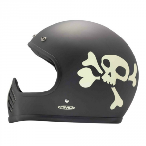 DMD SEVENTYFIVE LITTLE SKULL Full Face Helmet - Black and White